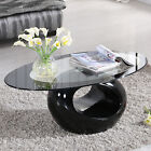 تربيزه جديد Glass Oval Coffee Table Contemporary Modern Design Living Room Furniture