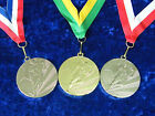 10 Football Medals Tournament Event on Ribbon Gold or Silver, Man of the Match