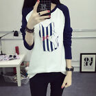 New Women's Loose Long Sleeve Cotton Casual Blouse Shirt Tops Fashion T-shirt UK
