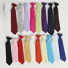 Lito Boy's Dressy Clip-On Tie - Variety of Colors in Toddler Size thru Age 14