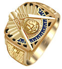 Customizable Solid Back 10k 14k Gold Masonic Past Master Ring *Free Watch*