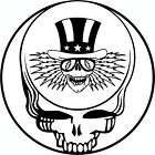 *SYF with Uncle Sam Grateful Dead Jerry Garcia Biker Vinyl Die-Cut Sticker Decal