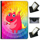 Mythical Magical Unicorns Dressing Up Folio Leather Case For Most Tablets