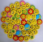 Happy Smiley Face #A 45MM LOTS PIN BACK BADGES BUTTONS NEW FOR BAG CLOTH PARTY