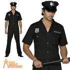 Male Sexy Cop Policeman Costume Police Uniform Mens Fancy Dress Outfit