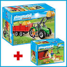 NEW PLAYMOBIL 6130 + 6134 COMBO TRACTOR TRAILER + FARM GOLDEN RETRIEVERS