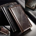 DESIGNER GENUINE LEATHER RETRO WALLET STAND CASE COVER SONY XPERIA XA