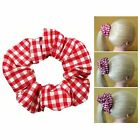 Red Gingham Scrunchies 3 Sizes Ponytail Holder Made in USA