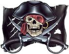 PIRATE SKULL FLAG color vinyl decals stickers bumper (311)