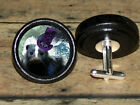 STEAMPUNK top hat goggles SKUNK cog Altered Art CUFF LINK or HAIR PIN pair Set