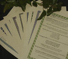 A4 Pagan Information Sheets on Parchment paper - for a Book of Shadows - Wicca