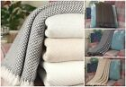 Luxury Cashmere Throws Bed Sofa Travel Chunky Knot Handmade in Nepal