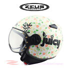 ZEUS ZS-210C Motorcycle Scooter Demi Jet Helmet DOT Safety Approved MOMO Retro