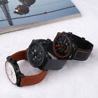 Casual Men's Stainless Steel Leather Analog Quartz Sports Date Wrist Watch Gift