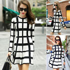 Womens Long Sleeve Bodycon Ladies Dress Party Cocktail Short Evening Fashion New