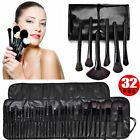 32pc Purple Professional Soft Cosmetic Eyebrow Shadow Makeup Brush Set +Bag Case фото