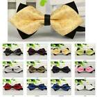 New fashion duet Mens Pre Tied Wedding Party Fancy Plain Necktie tie Bow ties