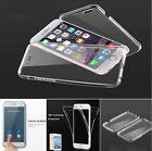 Front + Back 360 Degree TPU Gel Crystal Clear Case Cover for iPhone 7 / 7 Plus