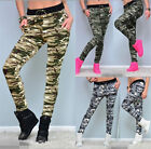 UK Camouflage Womens Stretch Pocket Yoga Activewear Casual Trousers Leggings