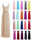 Chiffon Halter Long Bridesmaid Prom Dress Evening Gown Formal Ball Party Dresses