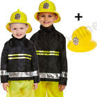 3-9 CHILDRENS KIDS BOYS FIREMAN FIRE FIGHTER FANCY DRESS COSTUME SAM UNIFORM