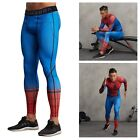 Men's 3D Spiderman Compression Super Hero Leggings Long Pants Tight Gym Trousers
