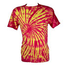 Tie Dye Red Yellow Spiral T-Shirt
