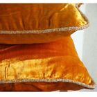 """Orange Solid Color 12""""x12"""" Velvet Pillows Cover - Glorious Flame"""