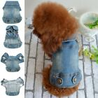 Soft Blue Jeans Denim Cute Pet Dog Cat Puppy Coat Jacket Clothes Costume Apparel