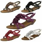 Ladies Clarks Leather Floral Detail Sandals With Small Wedge Heel-Santa Rock