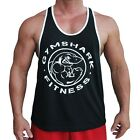 Gym  Shark Stringer Vest tank top men bodybuilding tanks workout shirt muscle