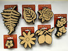 CRAFT STAMPS Decorative Aspen Leaf/Rose Flower/Fern/Lemons/Daisy/Ivy Craft/Art
