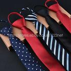Mens BOYS FASHION Adjustable Pre Tied Wedding Party FANCY SKINNY Necktie