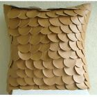 """Fish Scales Brown Pillow Cases, Faux Leather 12""""x12"""" Pillows Cover - Scales"""