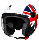 CASCO DEMI JET RODEO DRIVE RD105N FLAG ENGLAND ITALY SCOOTER HELMET