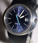 VINTAGE 1970's OMEGA GENEVE DYNAMIC AUTOMATIC GENT'S WATCH WITH RARE BLUE DIAL