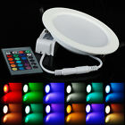 IN US! 10W RGB LED Recessed Ceiling Panel Down Spotlights Lamp Bulb With Remote