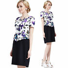 Fashion Women Summer Slim Short Sleeve Dress OL Style Office Evening Party Dress