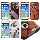 For iPhone 6 / 6S - Hybrid Armor Hard&Soft Rubber High Impact Cover Case Sports