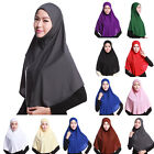 Hijab Islamic Head Wear Long Cotton Scarf Neck Chest Cover Muslim Shawl Kerchief