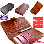 Leather Travel Wallet Multi Passport Boarding Pass Ticket Currency Credit Cards