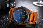 Curren Fashion Men Date Stainless Steel Leather Analog Quartz Sport Wrist Watch