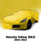 2014 - 2015 Corvette Velocity Yellow Color Match Car Cover. Indoor Use Only!