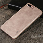X-Level Vintage PU Leather Slim Back Phone Case Cover For iPhone Xs Max XR 7 8+