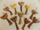 Handmade Zardozi  Beaded Butterfly Hanging Ornament Many Designs to Choose From
