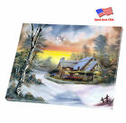 """Stretched Canvas Print Mirrored Sides ArtWall Deco 12""""x16"""" """"Snow House"""""""