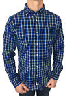 SALE £41 // Mens Size XL Superdry Tailored Oxford Shirt in Check Navy Blue/White