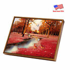 """Black Framed HD Oil Painting Print on Canvas ArtWall Deco 12""""x16"""" """"Red Forest"""""""