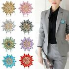Women Fashion Rhinestone Crystal Flower Wedding Bridal Bouquet Brooch