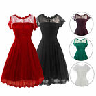 New Lace Bridesmaid Prom Ball Gown Formal Evening Party Cocktail Short Dress hot